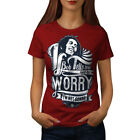 Bob Marley Dont Worry Women T-shirt NEW | Wellcoda