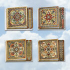 MQ4609OCB B3x4 Ornate Tiles 12 Assorted Square Top All Occasions Note Cards