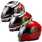 Viper RSV9 Motorbike Ful Face Helmet Motorcycle Moped With Retractable Sun visor