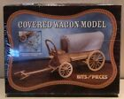 U.S. OLD WEST COVERED WAGON (1800's) BITS & PIECES COMPANY, WOODEN MODEL KIT