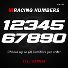 Racing Numbers Vinyl Decal Sticker Dirt Bike Plate Number Bmx Competition 499