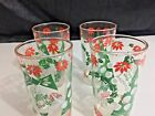 Vintage HAZELWARE Christmas Tumblers Drinking Glasses Set of 4