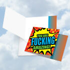 CQ4965AOCB F king Amazing You All Occasions Blank Greeting Card with Envelope