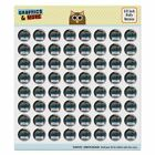 Choose Your Weapon Artist Paintbrush Puffy Bubble Scrapbooking Sticker Set