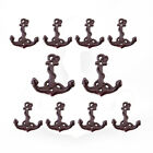 10* Cast Iron Whipping Small Anchor Wall Hooks Hat Hook Heavy Duty Vintage Style