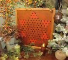 Primitive Antique Vtg Wood Frame Star Chinese Checkers Game Board Gameboard