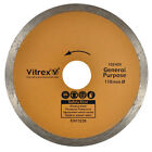 VITREX 103409 REPLACEMENT DIAMOND CUTTING DISC BLADE FOR TILE CUTTERS 110MM