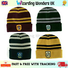 Harry Potter Beanie Hat Gryffindor Slytherin Ravenclaw Hufflepuff Cosplay Gift
