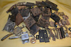 Old Lot of 57 pc Door Hardware Ice Box Latches Keys Locks Faceplates Catches +