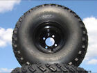 Lifted Golf Cart Tire Wheel Set of 4 Mounted 22x11 8 with Offset Black Wheels