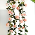 6ft Fake Silk Rose Flower Artificial Ivy Vines Garland Wall Home Floral Decor