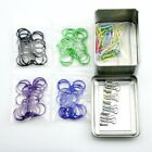 loose leaf binder rings book ring keychain 1 inch 60pcs + 50pcs paper clips +