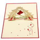 3D Pop Up Christmas Card Handmade Greeting Cards Jingle Bell Party Invitations