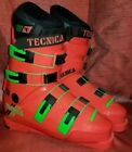 Vintage Tecnica Pro S Mens Ski Boots Size 10 Made in Italy Pink Green