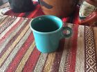 Turquoise Fiesta Ware Homer Laughlin Mug HLC Coffee Cup Tom and Jerry