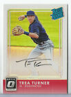2016 Donruss Optic Trea Turner Auto Autograph Holo Rated Rookie NATIONALS # 150