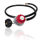Gas One 4FT High Pressure Propane 0 20 PSI Adjustable Regulator with 4ft QCC 1 t