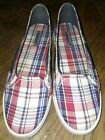 Womens Sperry Top Sider Size 9M Plaid Slip On