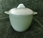 Vintage JADITE Jadeite ANCHOR HOCKING Fire-King JANE RAY COVERED SUGAR BOWL