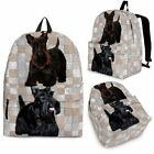Scottish Terrier Dog Print Backpack Express Shipping