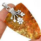Oregon Red Moss Agate 925 Sterling Silver Pentant Jewelry PP106773
