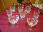 8 pcs Whitehall Indiana Glassware Cube??? Clear Color Ex Cond