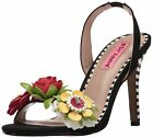 Betsey Johnson Womens Brena Dress Sandal Black Multi Size 75