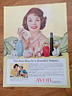 1958 Avon Cosmetics Ad New Avon Ideas for a Beautiful Summer