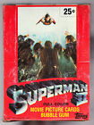 1980 Topps SUPERMAN II Movie Trading Cards FULL WAX BOX 36 Sealed Packs