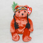 Ty Beanie Baby Little Feather - MWMT (Bear Indian 2003) Thanksgiving