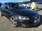 09 AUDI A3 20 TDI 140 S LINE SAT NAV LEATHER FABULOUS LOOKING EXAMPLE LOVELY