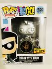 Funko Pop #599 CUSTOM METALLIC CHASE Robin as Nightwing with Baby Teen Titans Go