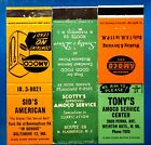 1940s/60s Amoco Gas Stations Matchbook Cover Matchcover X3