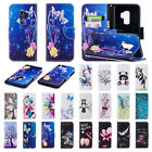 For Samsung Galaxy S8 S9 Plus Wallet Flip Magnetic Pattern Stand Slim Case Cover