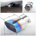 63mm Plating Process Baked Blue Stainless Straight Exhaust Tail Muffler Tip Pipe