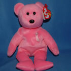 Ty Beanie Baby Aware Breast Cancer - MWMT, Bear