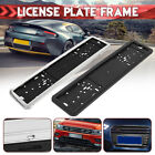 Car Universal Uk Eu Euro European German Russian License Plate Holder Frame New