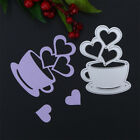 Excellent Love Heart Coffee Cup Shape Cutting Dies Carbon Steel Stencil