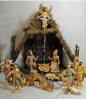 Fontanini Nativity Set with Wood Stable 13 Pc 35 Depose Figures Made in Italy
