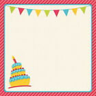 Birthday Easy Peasy Page Layout W 3D Design 12X12