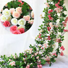 245m Long Silk Rose Flower Ivy Vine Leaf Garland Wedding Party Home Decors Ca