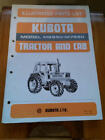 Kubota Tractor and Cab Illustrated Parts List M6950 - M7950
