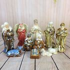 Porcelain Nativity Set 11 Piece Beautiful Vintage Baby Jesus Christmas Ceramic