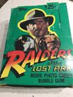 Raiders of the Lost Ark 1981 Topps BOX Movie Photo Trading Cards