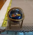 JOSH SIMPSON PLANET ART GLASS PAPERWEIGHT WITH GLOBE STAND