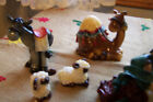 Vintage Nativity Set from Sears  Roebuck 11 Folk Art Inspired Figures NOS