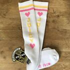 Vintage Juicy Couture Tube Socks Athletic Knee High CrossFit Gym New Heart