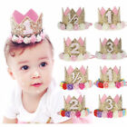 Birthday Crown Flower Tiara Headband F Baby Girl Boy Party Hair Bands Accessory