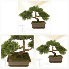 Fake Potted Plants Artificial Bonsai Tree Japanese Plastic Pine Tree Home Office
