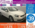 2012 VW GOLF 14 TSI MATCH GOOD BAD CREDIT CAR FINANCE FROM 39 P WK